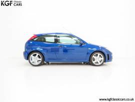 A Pristine Ford Focus RS Mk1 Build Number 3083, Imperial Blue, £ 49,995