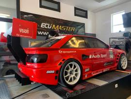 """Audi S2 extreme, # New build engine with the best parts <br /># Mecanic head with catcams<br /># New precision turbo 64/66 gen2<br /># Rs4 gearbox<br /># Maxecu With 6"""" screen<br /># Krb exhaust manifold<br /># turbo smart  wastegate<br /># Drysump ( peterssons)<br /># 1020 hp<br /># 1080 kg<br /># Hydralic jackers<br /># H&R Coilovers rebuild of sellholm<br /># wire gearlinkage with race gearlever<br /># 4x Fixit drivaxels with big ends <br /># Full rollcage  wrc spec<br /># Water Cooler (place)and oilcan in the back <br /># Tilton pedalbox <br /># Carbon interior<br /># new geartunnel and exhoust tunnel<br /># Porsche wheels Oz allegritta #18x12""""  all arround <br /># 300/65 tyres slicks<br /># Tilton tripple plate cluth And light flywheel<br />#Gripper diff in the front and in the middle and in the back<br /># Xyz 6 pot and 4 pot brakes<br /># Sellholms knife rollbars Front and back.<br /># Custom linkarms with uniballs<br /># Racetank<br /># Firewall<br /><br />Perfekt for hillclimb och track, 5, Coupe, 2016, 4WD, 2, € 43,000, Sweden, Halland"""